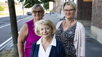 Gunilla Nilsson, Karin Klitte och Monica Hallström hjälper de familjehemsplacerade barnen att lyckas i skolan.