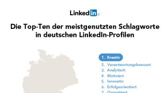 """LinkedIn-Studie zu überstrapazierten Schlagwörtern in Online-Profilen: """"Kreativ"""", """"organisationsstark"""" und """"effektiv"""" führen die Liste an"""
