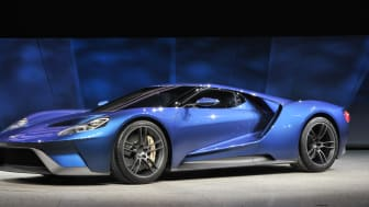 Helt nye Ford GT ble for første gang vist på den internasjonale bilutstillingen i Detroit