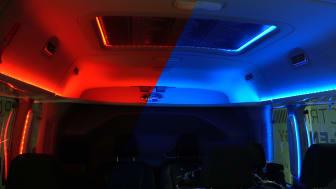 Stemningsbelysning gir bedre rekkevidde i helelektrisk Ford-konsept