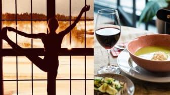 En helg med yoga, vin och mat i perfekt kombination
