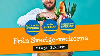 Under Från Sverige-veckorna vecka 38 och 39 lyfts svenskproducerade råvaror, livsmedel och växter av företag och butikskedjor.
