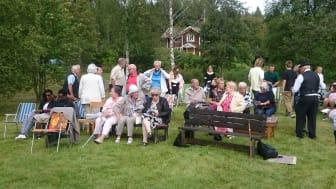 Friluftsgudstjänst i Bäckegruvan 2019.