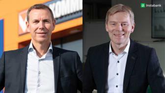 Espen Braaten, kjededirektør for Bygg i Coop og Robert Berg, administrerende direktør, Instabank ASA
