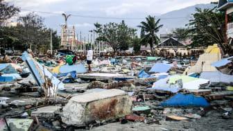 Flera jordskalv med en efterföljande tsunami drabbade Indonesien hårt.