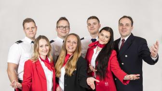 Glada medarbetare på M/S Rosella.  Foto: Therese Andersson/Blick