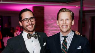 Årets Unga Entreprenör 2017 Hugo Larsson och Linus Werner, grundare av  Save-by-Solar Sweden.  Fotograf. David Thunander