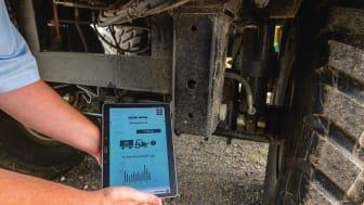Vom Radkasten aufs Tablet – Per kabelloser Kommunikation leitet der AGRO Hub die gemessenen Daten weiter.