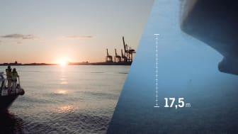 Skandiaporten gör möjlighet för världens största fartyg att komma in fullastade till Göteborgs Hamn. Det ger ökad effektivitet och mindre klimatavtryck.