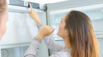 Design, praktisk inredning och låg energiförbrukning är viktigt vid val av ny kyl och frys
