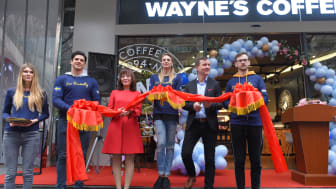 Wayne's Coffee has opened its first café in China