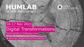 Humlab firar 20 år med en kostnadsfri onlinekonferens