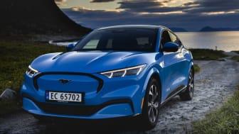 Nye Ford Mustang Mach-E får toppscore og 5 stjerner i Euro NCAP