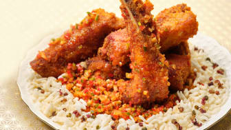 From 'Fit for a King' Eight-Course Set Menu: Deep-fried Spare Ribs with Minced Garlic and Chilli Sauce