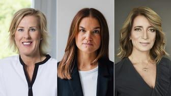 Juryn för Bokmässans bildningspris 2021 från vänster: Åsa Fahlén, Lärarnas Riksförbund, Tove Lindahl Greve, Majblomman, och Anette Novak, Statens medieråd. / Foto: Elisabeth Ohlson Wallin, Rasmus Brandin, Anna-Lena Ahlström.