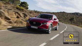 Mazda CX-30 får toppresultat i Euro NCAP