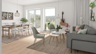 OBOS utvecklar Rydsgård med bostadsrätter och villatomter