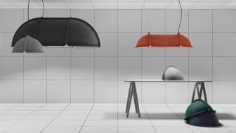 Hood Mini - Ljuskälla och ljudabsorbent i nättare format