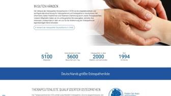 Informationen rund um die Osteopathie haben 2020 ca. 2,4 Mio. Menschen auf osteopathie.de gefunden.