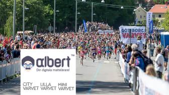 Digitala Matteläraren Albert står för barn och ungdomars anmälningsavgift vid Göteborgsvarvet