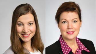 Från vänster: Ella Bohlin (KD), vårdutvecklingsregionråd och Anna Starbrink (L), hälso- och sjukvårdsregionråd