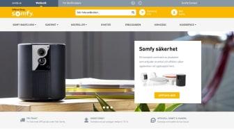 Den nya hemsidan för Somfy Shop Sverige erbjuder en mer användarvänlig upplevelse för kunden.
