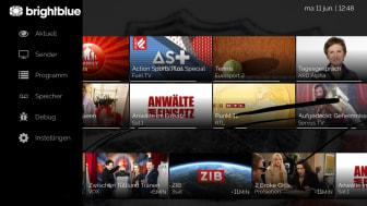 """Optimiertes und zeitloses Oberflächendesign von BrightBlue IPTV - Uwe Nickl: """"Hochmodernes State-of-The-Art-Produkt für alle kleinen und mittelständischen Telekommunikationsunternehmen"""". (BB)"""