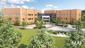 Vi slutför nu Floraskolan åt Skellefteå kommun. En ny skola F-9 för ca 1000 elever