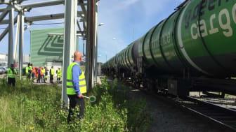 Utan tåget lyfter inte flyget - Green Cargos 5 000:e tåg med flygbränsle mot Arlanda