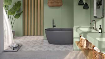 Silestone Sunlit Days Posidonia Green_bathroom