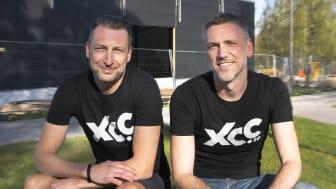 Patrik Leiderth och Ronnie Johannesson som driver butiken i Uricehamn