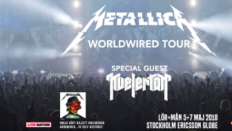 "Metallicas ""Worldwired Tour"" kommer till Sverige i maj 2018"