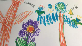 När förskolebarnen på Gustaf Dalénsgatan 7d på Hisingen, Göteborg fick rita vad de önskade sig till gården var kreativiteten på topp. Teckningar med allt från spöken och blommor till affärer fanns med bland förslagen.