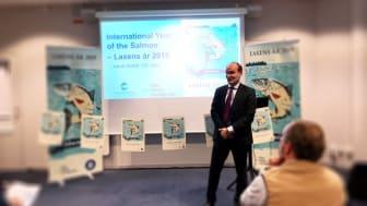Under torsdagen den 29 november invigde Jakob Granit, generaldirektör på HaV Laxens år 2019.