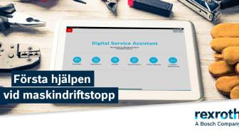 Appen för alla installerade Rexroth-kontrollsystem: Digital Service Assistant hjälper dig att reducera driftstoppstiden.