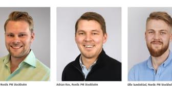 Tre nya medarbetare inom nytt affärsområde till Nordic PM