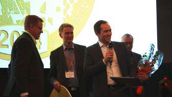 Guldmedaljen delas ut på Nordbygg 2014