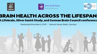 The 'Brain health across the lifespan' conference banner.