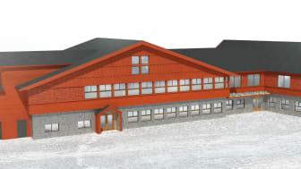 Det nya Gästhuset i Ramundberget ska stå klart till vintern.