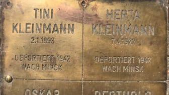 Stolpersteine Tini und Herta Kleinmann