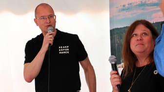 Gunnar Eikeland och Lotta Lovén