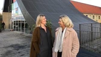 Formand for Erhvervsudvalget Randi Mondorf og afdelingschef Anne Weber fra Væksthuset, der fra nu af står for alle tilbud på jobområdet i Rudersdal