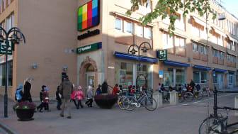 Tele2/Com Hem har idag lokaler på Storgatan i Härnösand