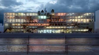 Magasin 113 förvandlas till ett levande kulturkvarter där nya idéer tar form. Visionsbild: MVRDV och BSK Arkitekter.