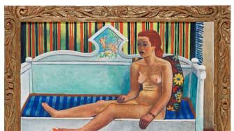 Stikkan Anderssons nakna modell sticker ut på Bukowskis Moderna