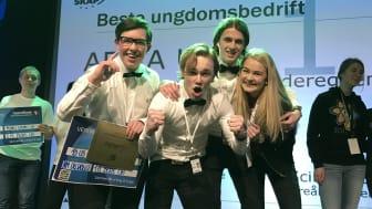 Aewa UB representerer Østfold i den nasjonale finalen. Foto: Ungt Entreprenørskap.