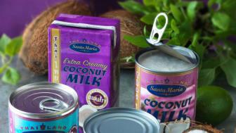 Vispad kokosmjölk - gott och nyttigt  till sommarbären