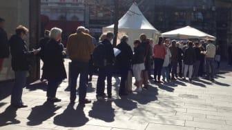 Resultatet av undersökning i Solskolans tält i Helsingborg: 20 procent av besökarna uppger att de haft aktiniska keratoser (förstadier till hudcancer)