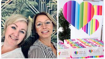 Victoria Svensson och Viktoria Hassel ska gemensamt styra Thoren Framtid-skutan framåt.