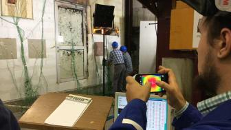 Die Live-Großbrandprüfung im Brandprüfzentrum des MPA NRW in Erwitte ist das traditionelle Highlight des Brandschutztages. Foto: FeuerTrutz Network